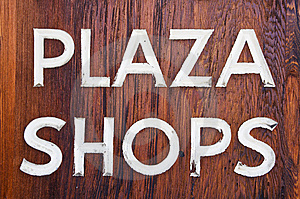 Plaza Shops Stock Photography - Image: 8792492