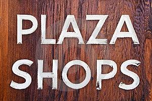 Plaza Shops Stock Photography - Image: 8792492