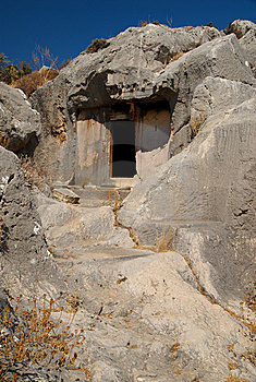 Rock Tomb, Xanthos, Turkey Stock Images - Image: 8793324