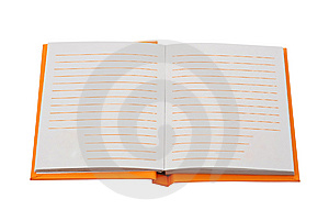 Orange Notebook With Empty Pages Royalty Free Stock Photography - Image: 8794837