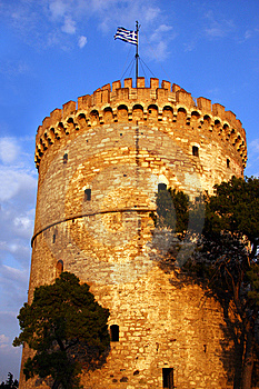 White Tower In Thessaloniki Greece Royalty Free Stock Photography - Image: 8795787