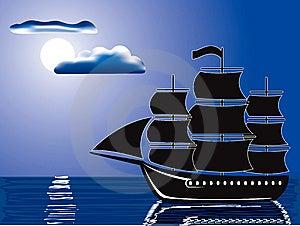 Moonlight Sail Royalty Free Stock Images - Image: 8795799