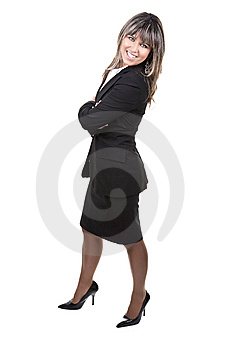 Beautiful Young Businesswoman Royalty Free Stock Images - Image: 8796589