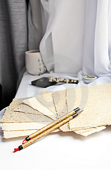 Calligraphic Still Life Royalty Free Stock Photography - Image: 8798607