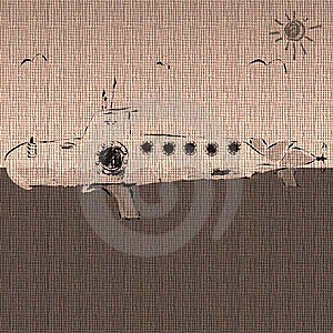 Submarine Sketch Royalty Free Stock Photography - Image: 8798887