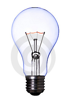 Blue Lamp Bulb Stock Images - Image: 8799574