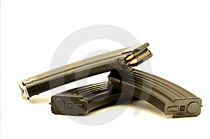 Magazines With Bullets Stock Image - Image: 8799591