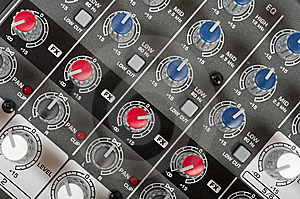 Audio Control Console Royalty Free Stock Photography - Image: 8799747