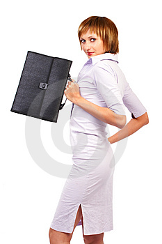 Business woman smiling. Royalty Free Stock Image