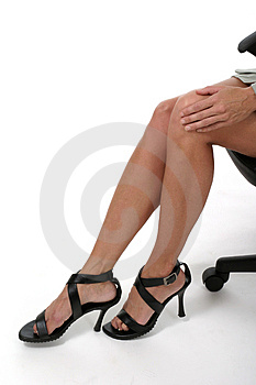 Distracting Legs in Business Office 2 Royalty Free Stock Photos