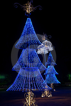 Blue Christmas Trees Stock Photography - Image: 8800072