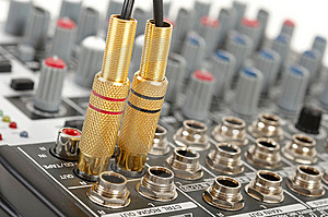 Audio Control Console Stock Photography - Image: 8800502