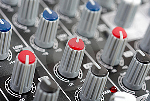 Audio Control Console Royalty Free Stock Image - Image: 8800686