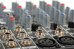 Audio Control Console Stock Images - Image: 8801664