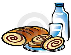 Apple Strudel And Milk Stock Photography - Image: 8803402