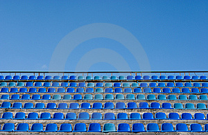 Empty Seat Rows Of Blue Stock Image - Image: 8803821
