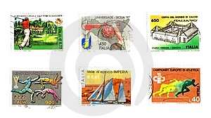 Sport: Post Stamps Stock Photos - Image: 8804393