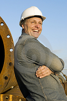 Happy Builder Royalty Free Stock Image - Image: 8804656