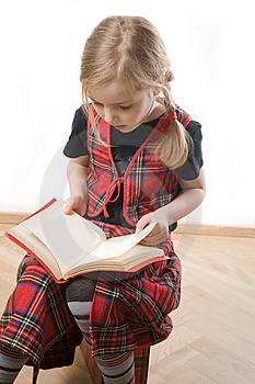 Serious  Schoolgirl Royalty Free Stock Images - Image: 8805819