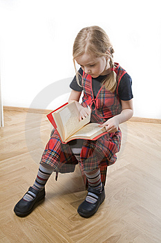 Serious  Schoolgirl Royalty Free Stock Photography - Image: 8805827