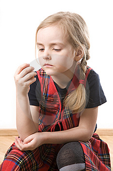 Serious  Schoolgirl Royalty Free Stock Photo - Image: 8805835