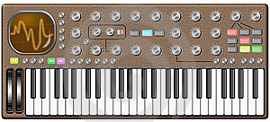 Big Retro Synthesizer With Oscilloscope Stock Photo - Image: 8806030