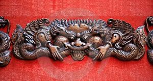 Woodcarving Dragon Stock Photo - Image: 8806920