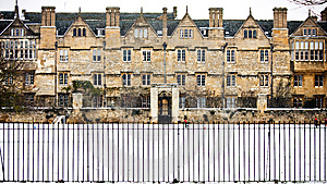Merton College, Oxford University Royalty Free Stock Image - Image: 8808206