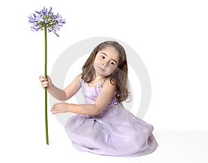 Serene Girl With Flower Royalty Free Stock Images - Image: 8808489