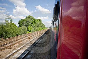 Train Track Royalty Free Stock Image - Image: 8808636