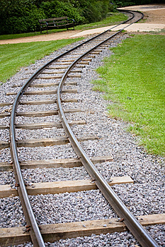 Rail Track Stock Photo - Image: 8808760