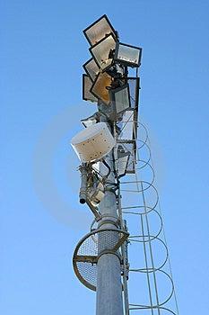 Stadium Light Pole Royalty Free Stock Image - Image: 8809036