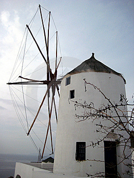 Greek Windmill Royalty Free Stock Photo - Image: 8809495