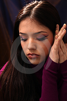 Girl With A Bright Make-up Royalty Free Stock Photography - Image: 8809807