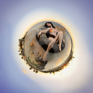 Sunset Beach Microworld Royalty Free Stock Images - Image: 8810859
