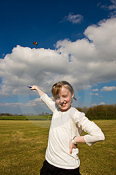 Pose With Kite Royalty Free Stock Images - Image: 8811259