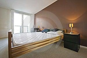 Luxury Bedroom In Brown Stock Image - Image: 8813011
