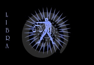 Libra Zodiac Sign Logo Stock Photo - Image: 8813470