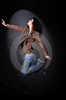 Dancer In Jump Royalty Free Stock Photos - Image: 8813778