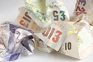 Used Banknotes Stock Photos - Image: 8817173