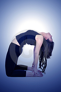Woman Is Doing An Expert Yoga Exercise Stock Photos - Image: 8817263