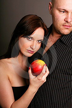 Temptation With A Apple Stock Photos - Image: 8817583