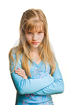 Resentment Of Young Girl Royalty Free Stock Photos - Image: 8817668