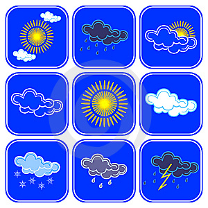 Vector Weather Icons. Stock Images - Image: 8818084