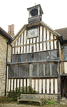Ightham Mote Clock Tower Royalty Free Stock Images - Image: 8818889