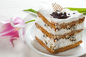 Cake And Tulip Stock Photo - Image: 8820750