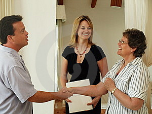 Making The Sale. Stock Image - Image: 8821871