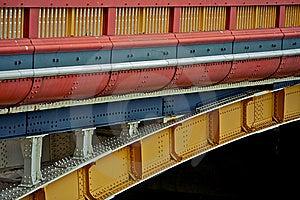 A Colorful Bridge, Transport Vehicle Royalty Free Stock Photography - Image: 8822417