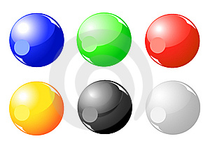 Color Sphere Collection Royalty Free Stock Photos - Image: 8823208