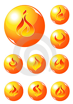 Fire Sphere Collection Stock Image - Image: 8823441